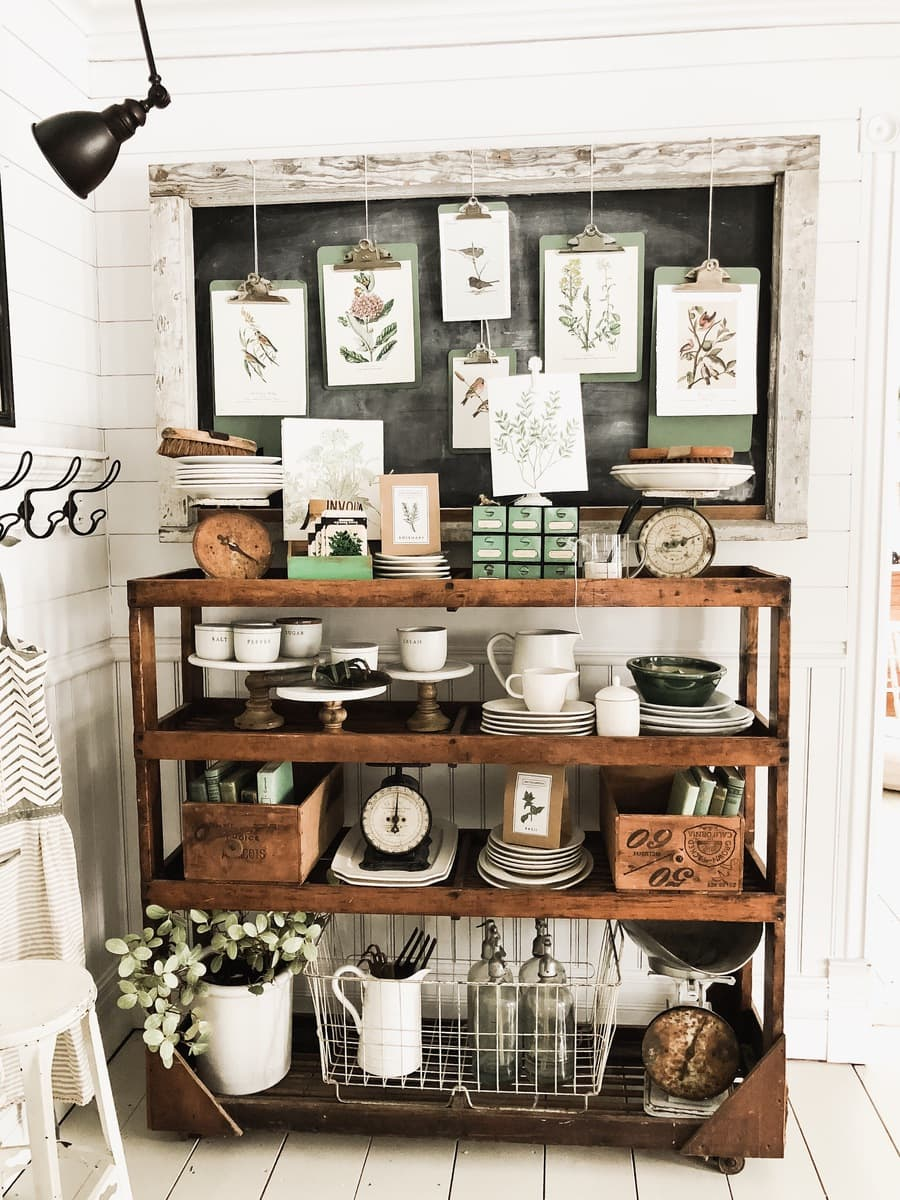 Dining Room Cottage Greenhouse Shelves