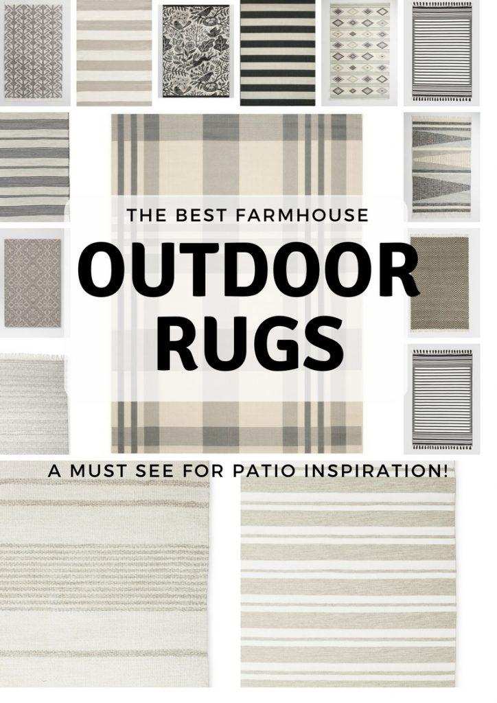 farmhouse rugs, 20+ Gorgeous Farmhouse Outdoor Rugs