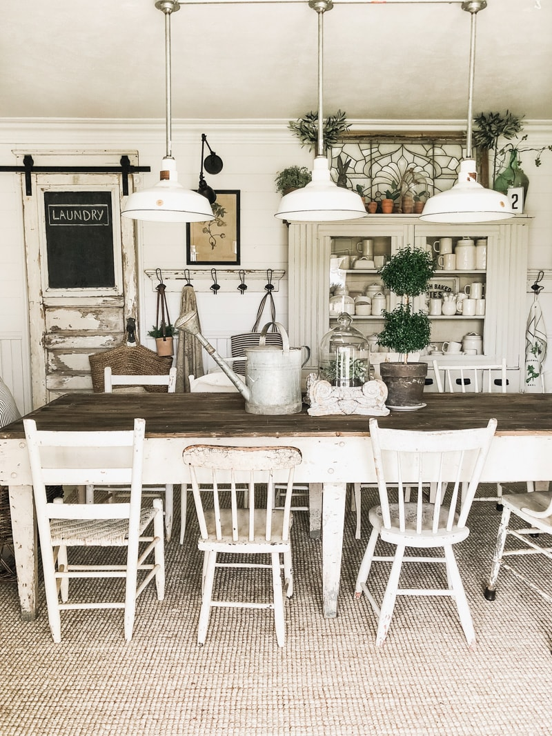 farmhouse dinning room lighting