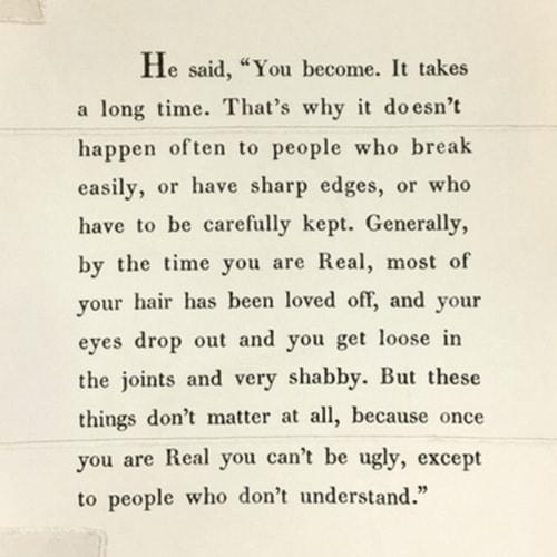 Velveteen Rabbit Quote