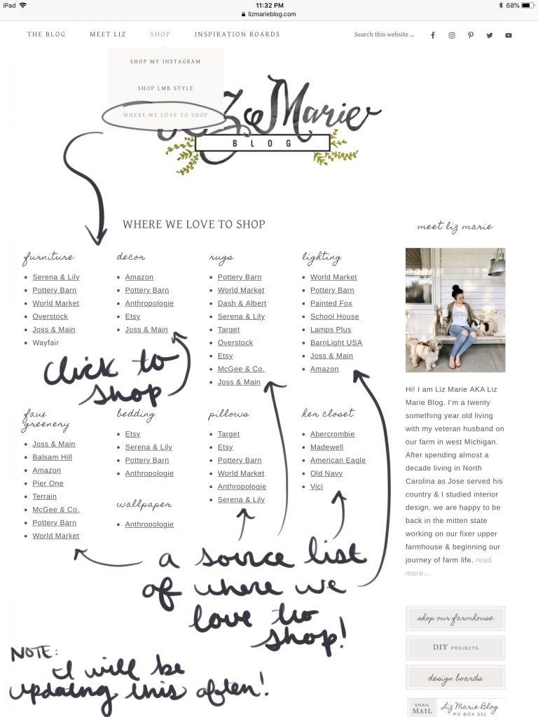 Love to shop, Liz Marie Blog Tour