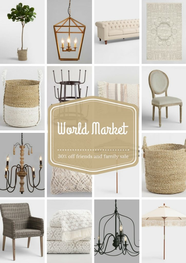 World Market, World Market Friends & Family Sale