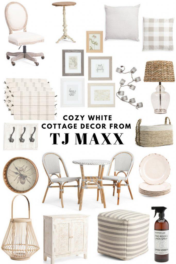 Cozy White Cottage, Cozy White Cottage Decor From TJ Maxx