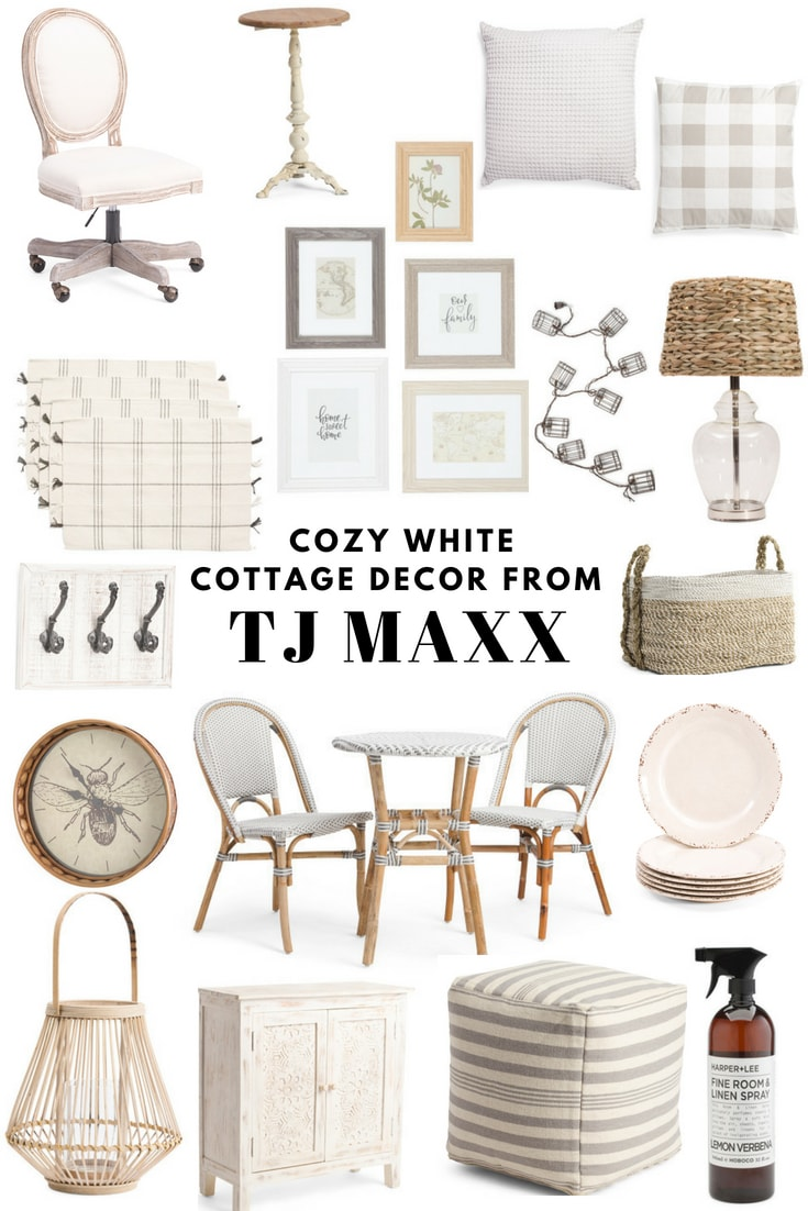 Cozy White Cottage Decor From TJ Maxx