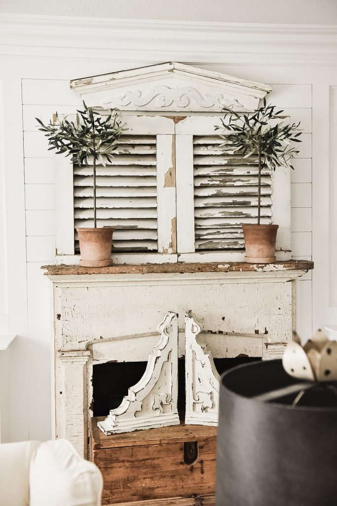 cottage style mantel