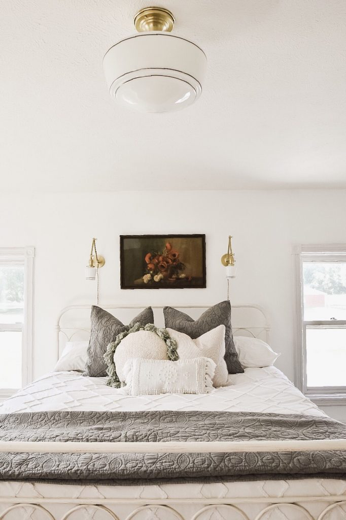 Master Bedroom Makeover - New Wall Sconces - Liz Marie Blog