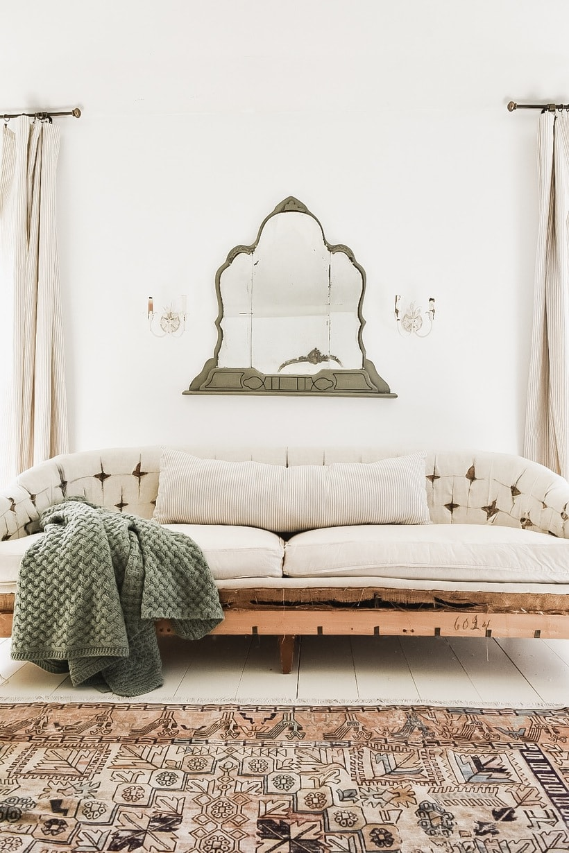 An Antique Mirror In The Bedroom