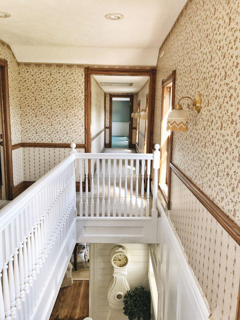 shiplap, Shiplap Upstairs Hallway