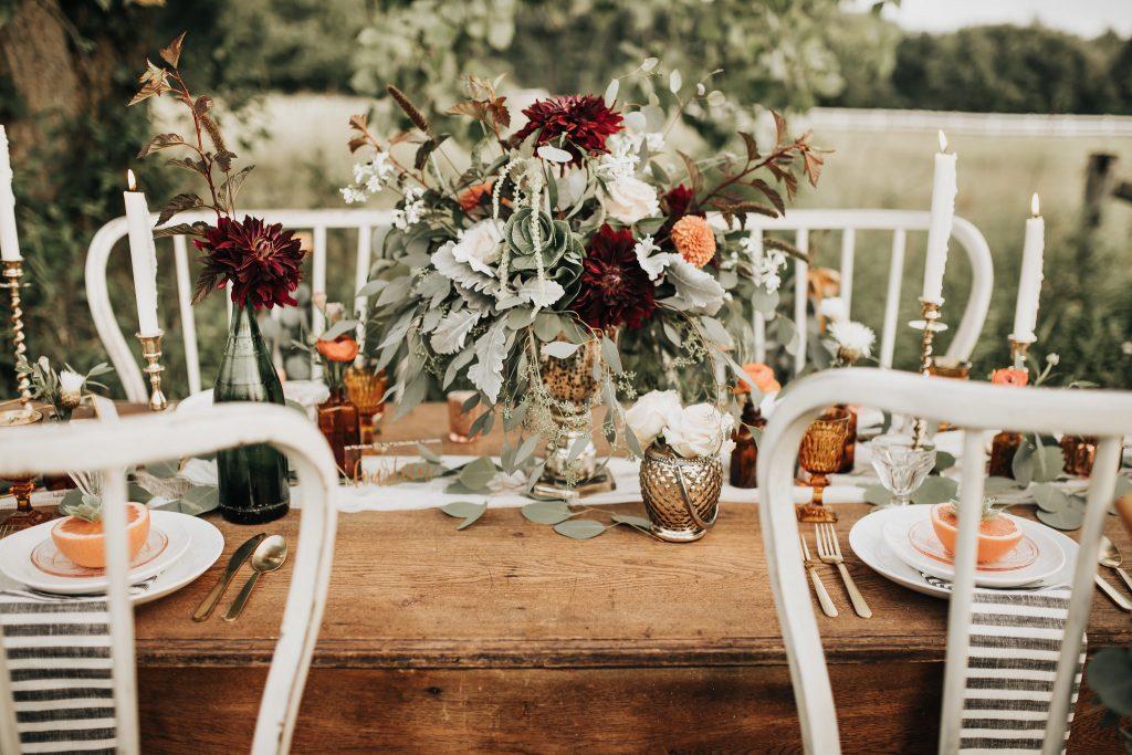 , Fall Tablescape In The Field