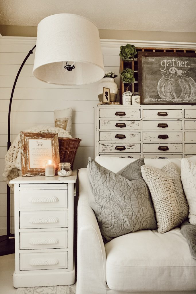 , A Simple Cozy Fall Family Room