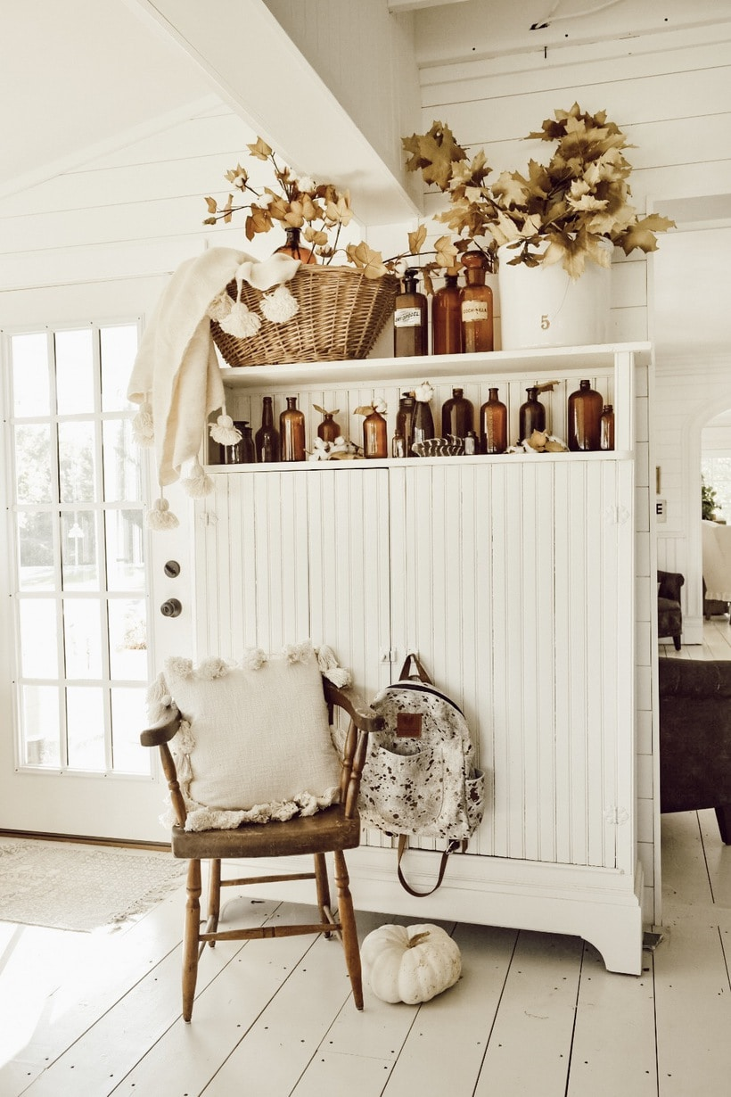 Autumn Amber Bottles – Farmhouse Fall Decor