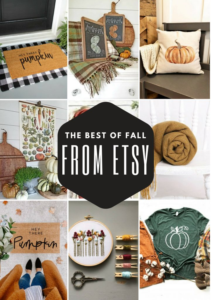 fall decor from etsy