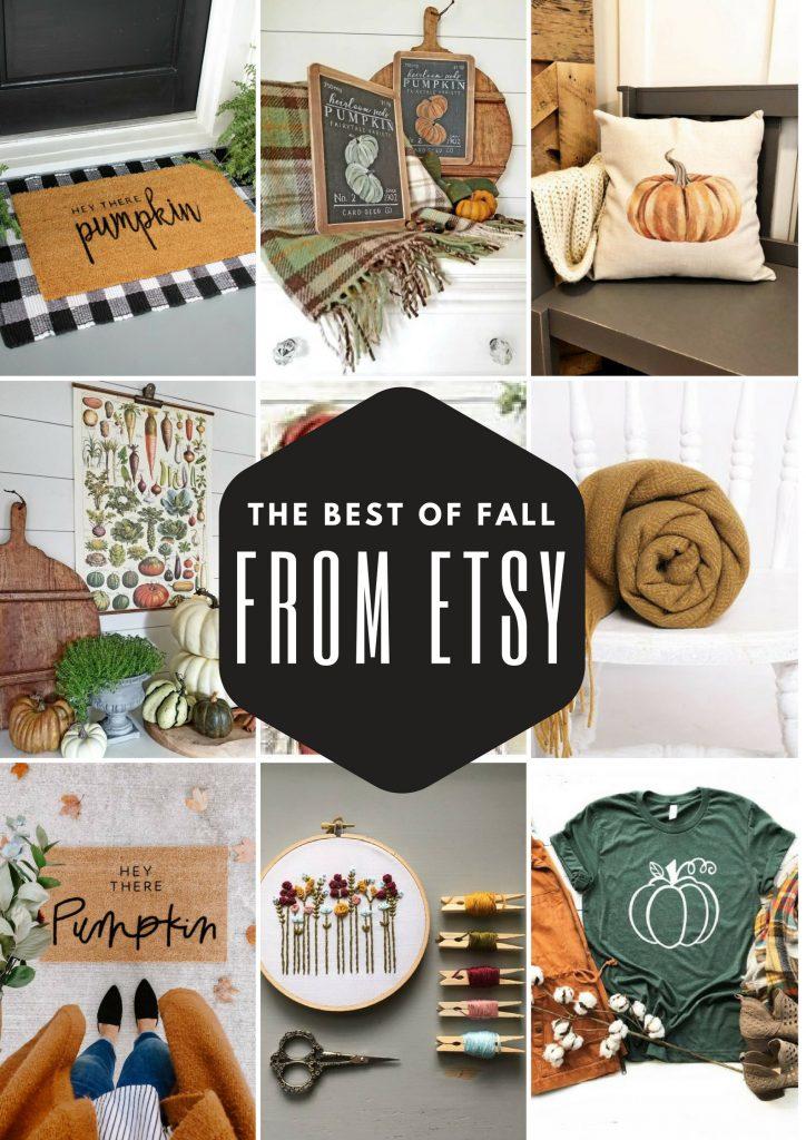 fall decor from etsy