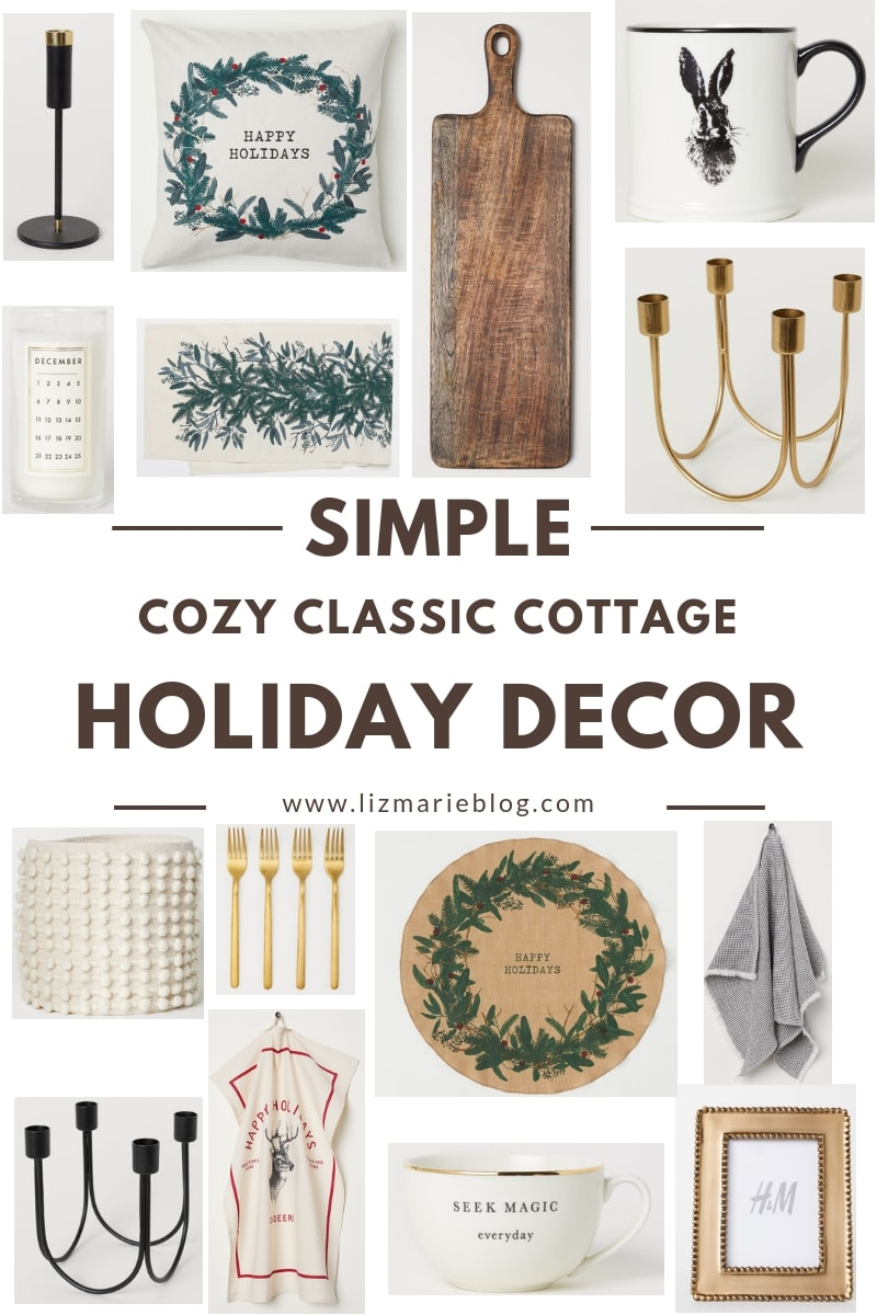 Simple Cozy Cottage Holiday Decor