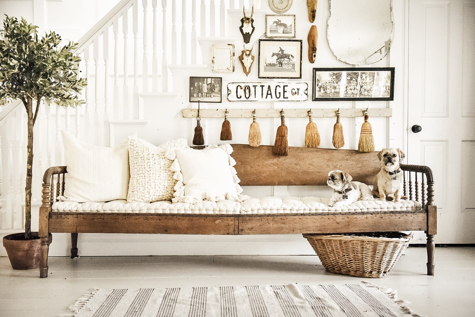 long entryway bench