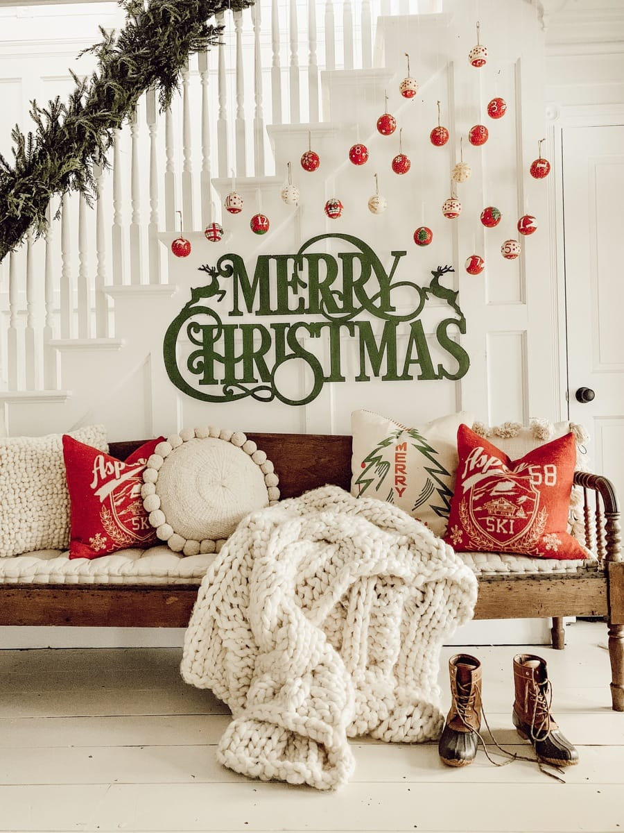 DIY Christmas Ornament Gallery Wall