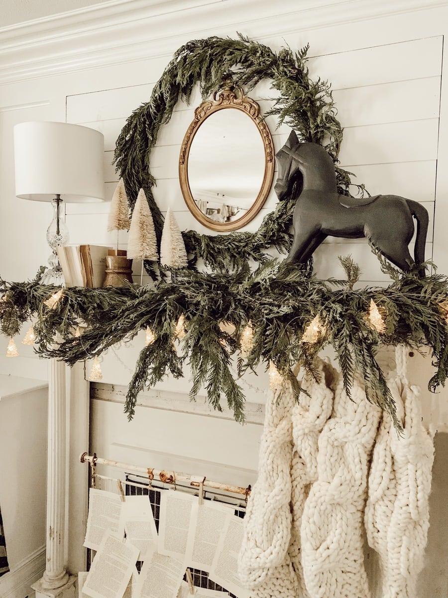 , One Christmas Mantle Three Ways