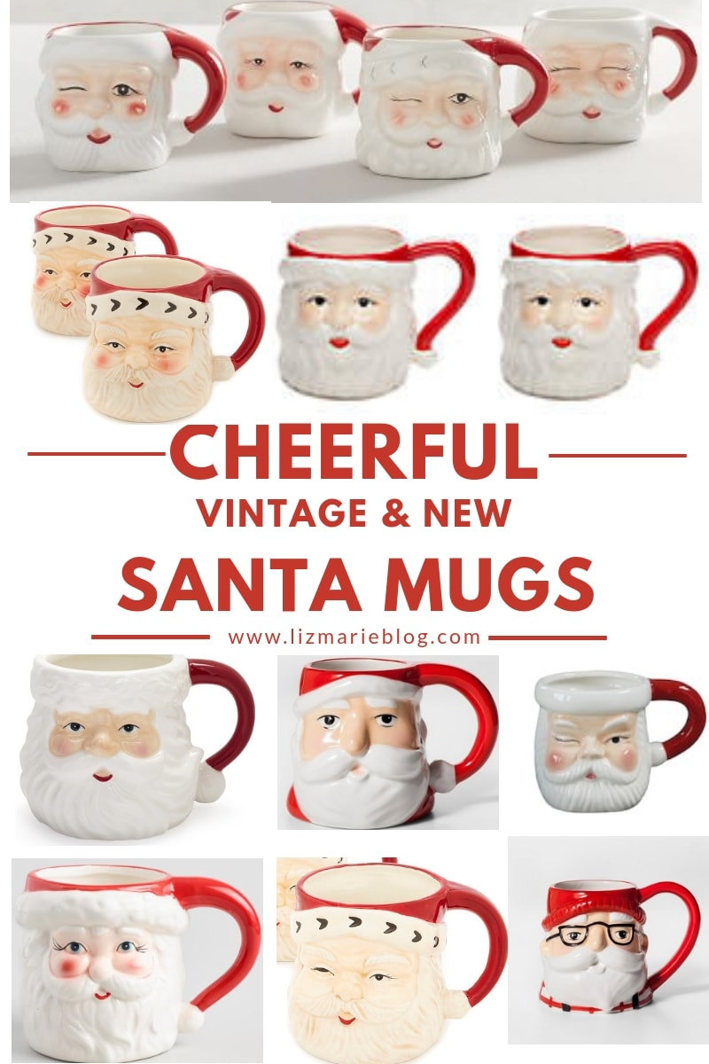 Santa Mug Christmas Decor Liz Marie Blog