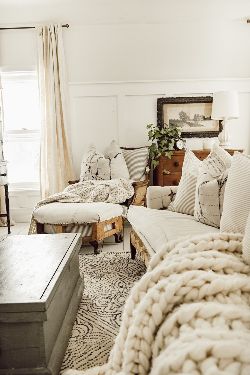 A Cozy Sitting Area In The Master Bedroom
