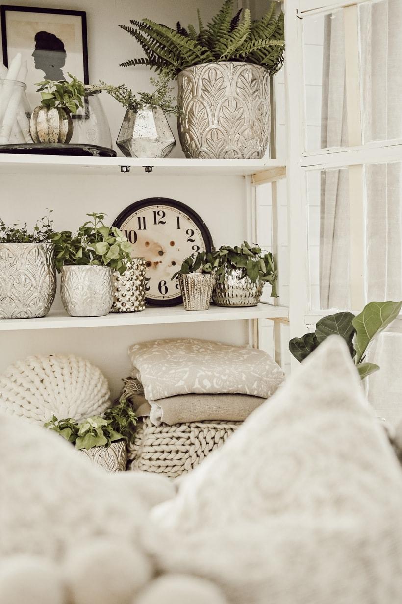 Styling Shelves, Styling Shelves 101- Three Basic Shelf Styling Tips