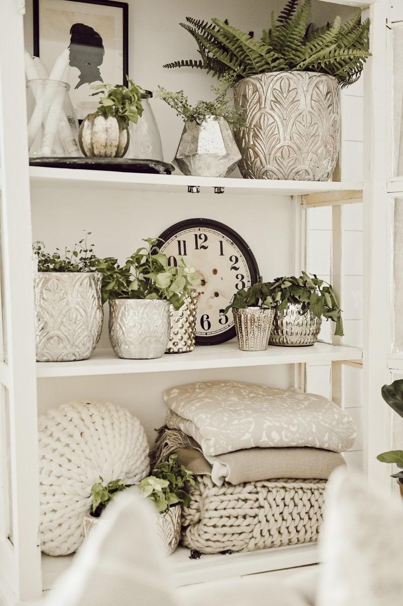 Styling Shelves 101- Three Basic Shelf Styling Tips