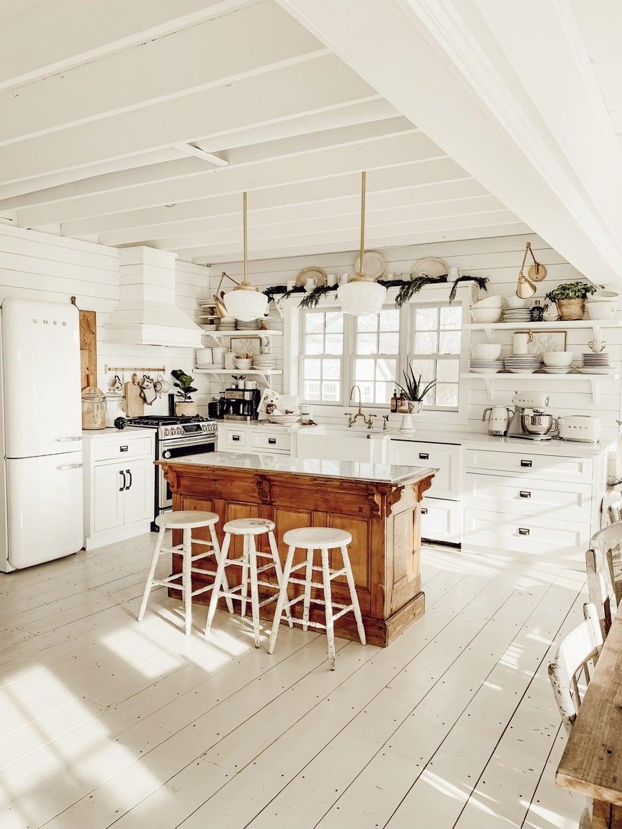 Winter Farmhouse Kitchen, Winter Farmhouse Kitchen