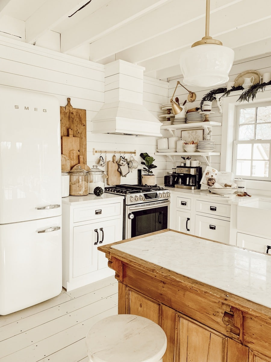 Winter Farmhouse Kitchen