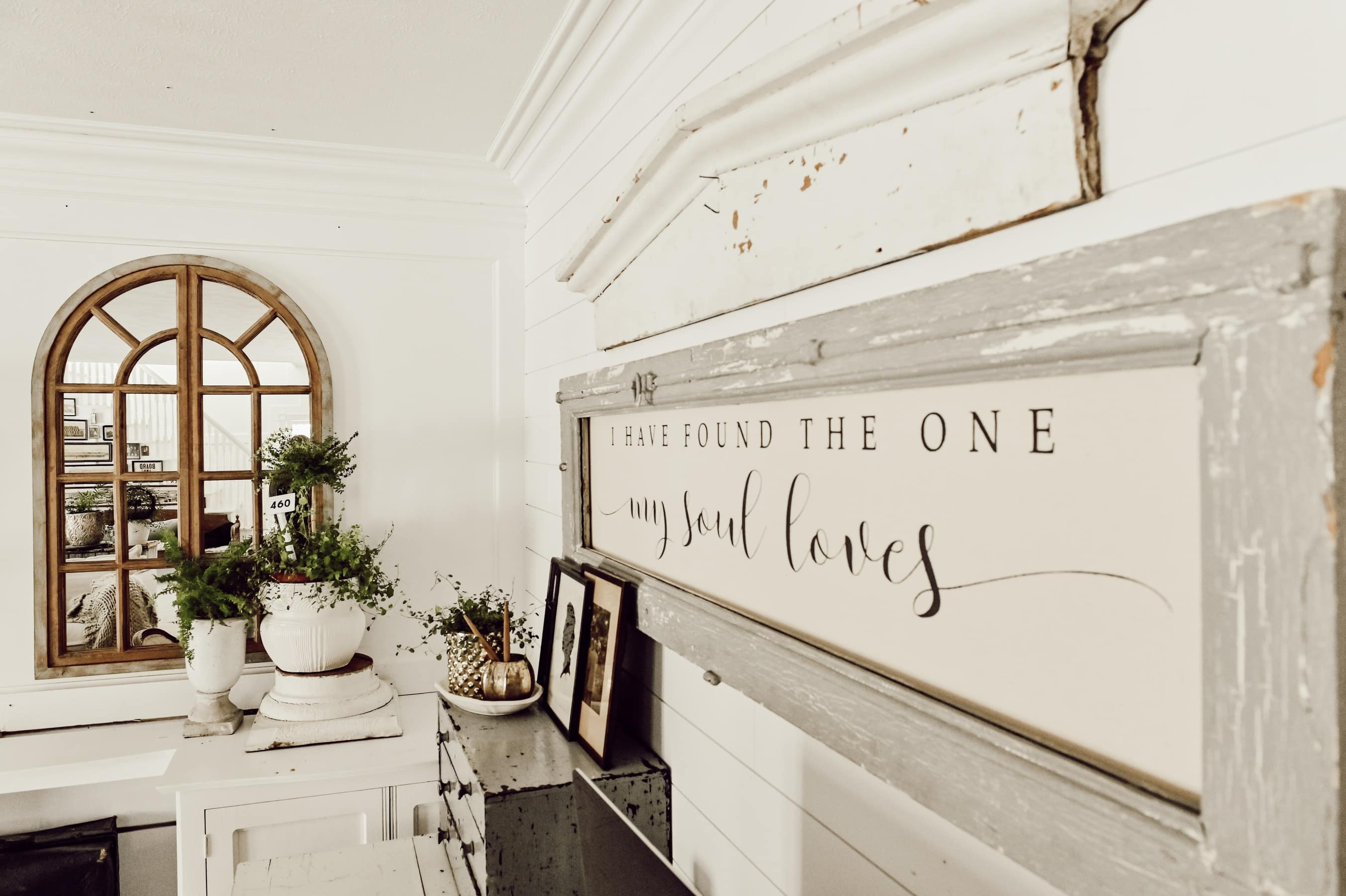 Arched Mirror, Rustic Farmhouse Arched Window mirror