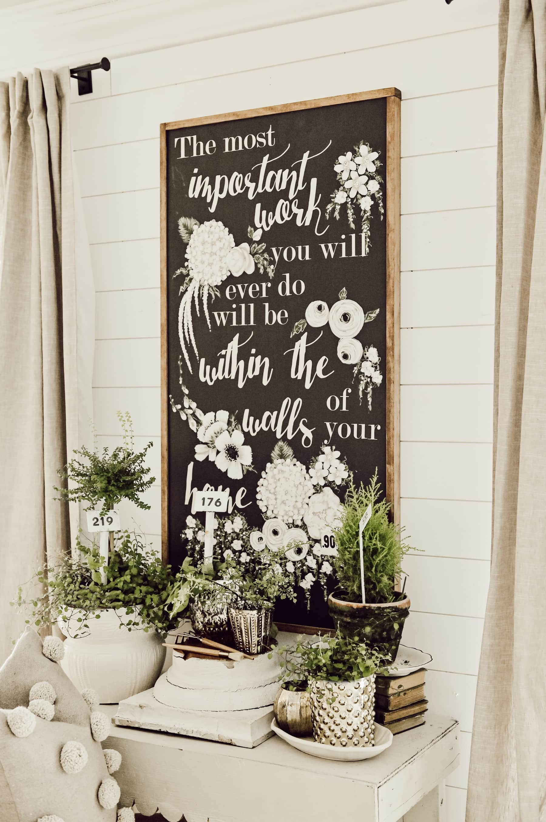 Winter To Spring Decor Transition