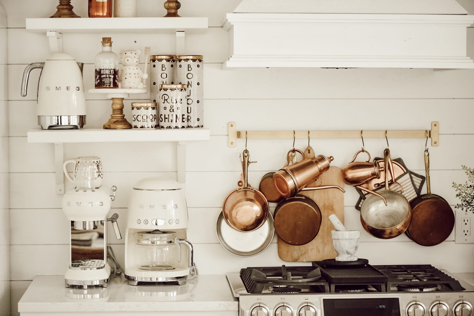DIY Open Kitchen Shelving - Liz Marie Blog