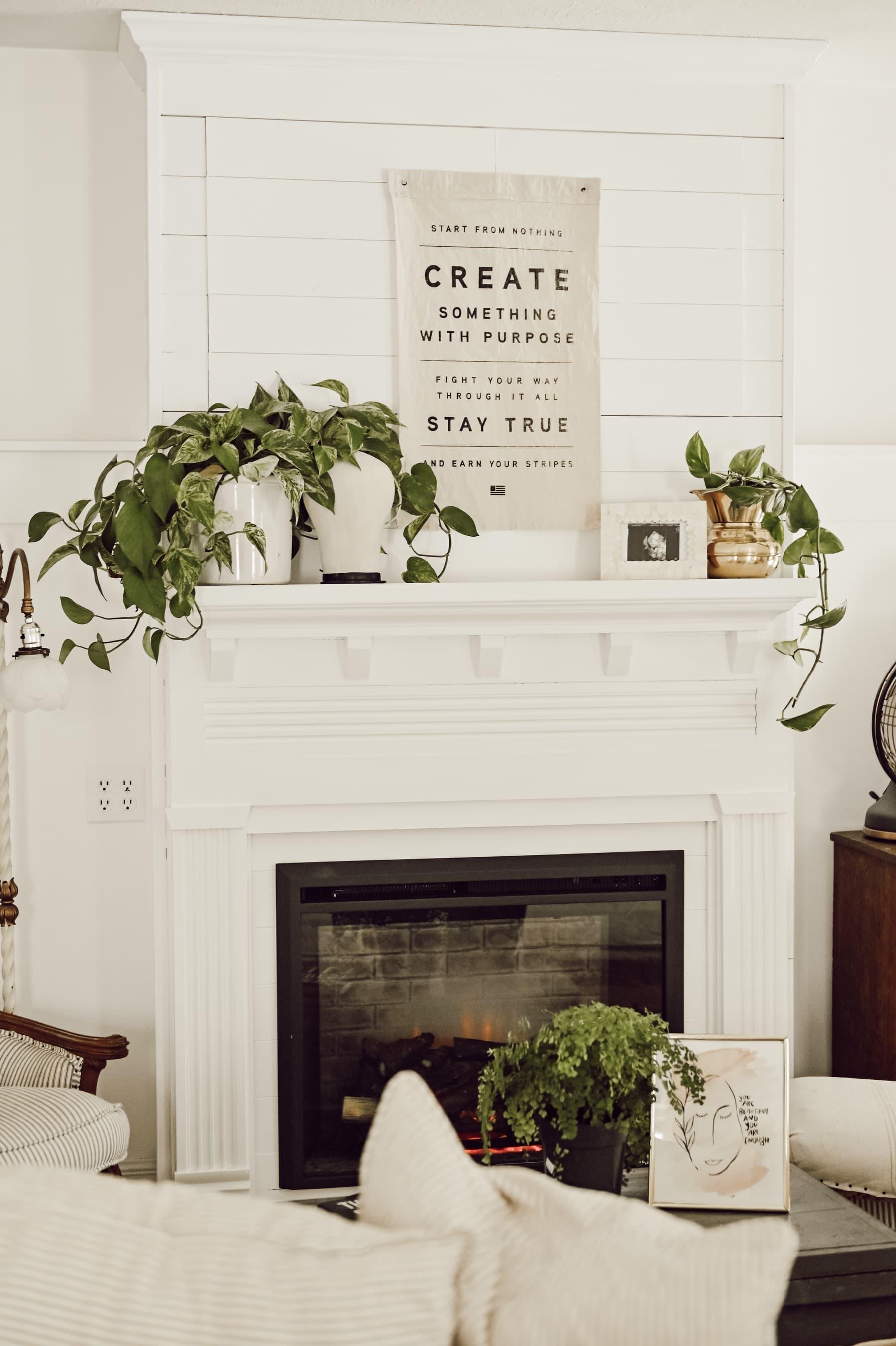 Diy Farmhouse Fireplace Liz Marie Blog