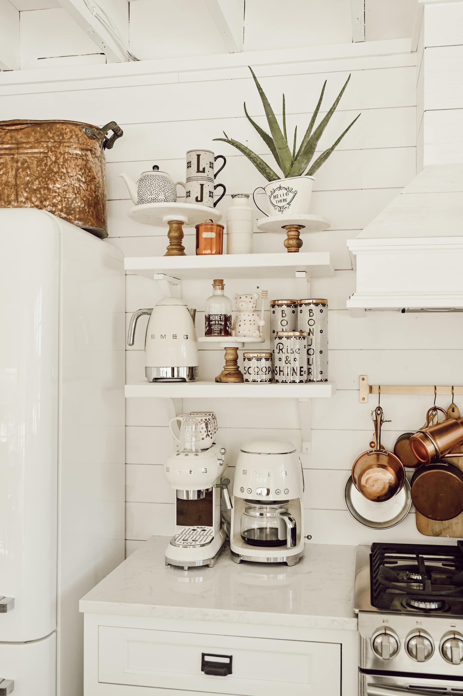 , DIY Open Kitchen Shelving