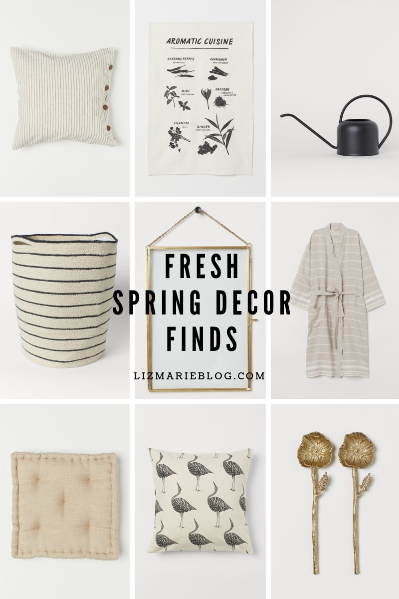 nine fresh spring decor finds from H&M mean to inspire the next spring refresh