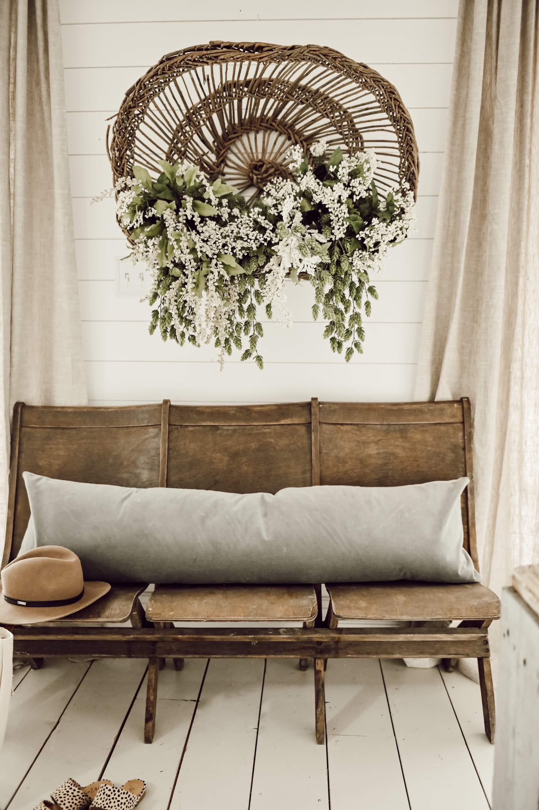 Hanging Floral Basket Art
