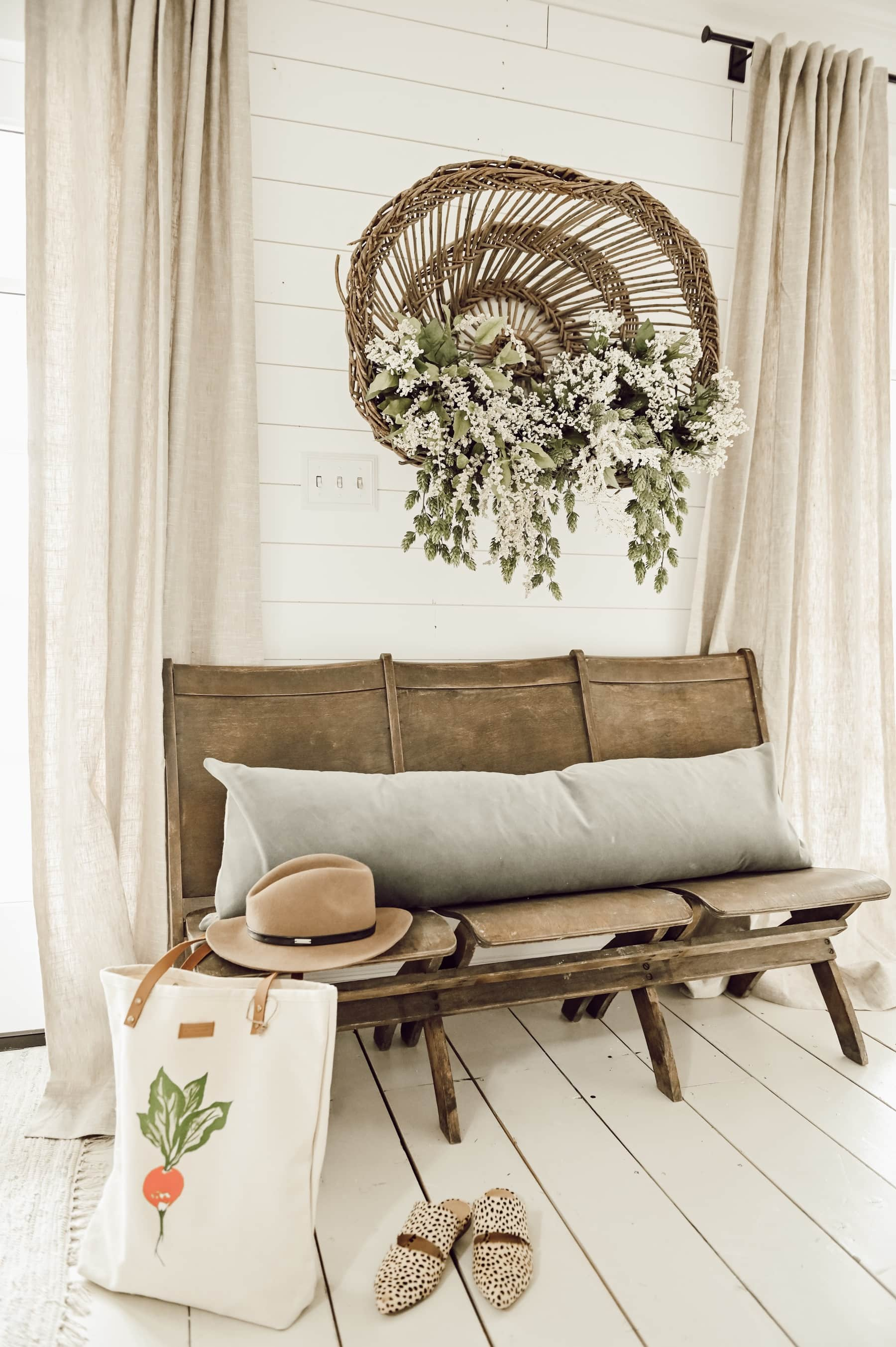 Hanging Floral Basket, Hanging Floral Basket Art
