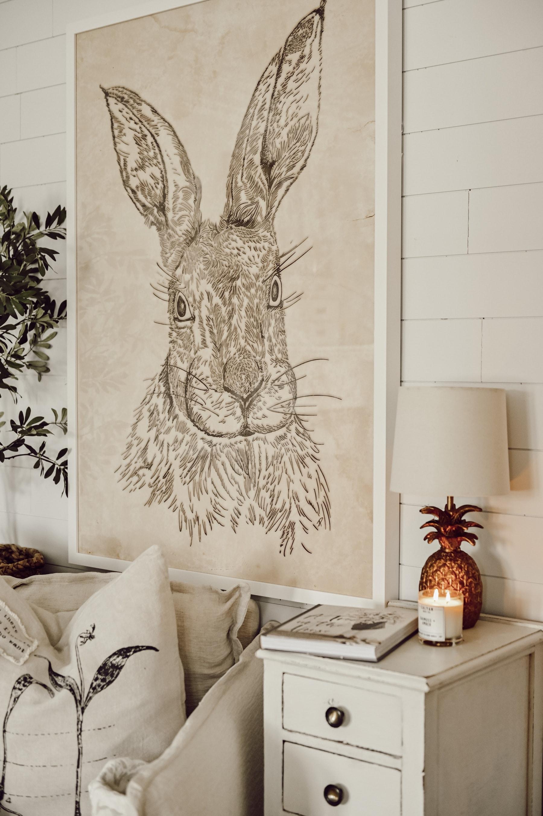 , Oversized Bunny Art