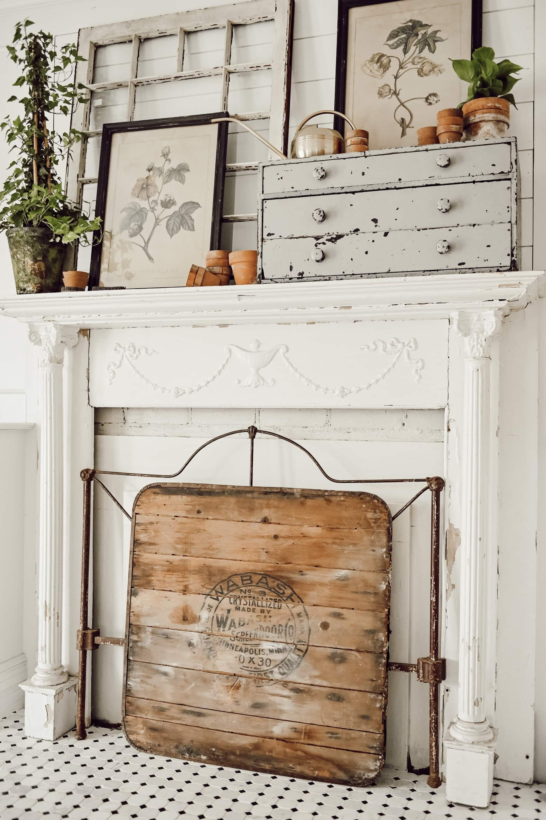 , A Spring Greenhouse Mantel