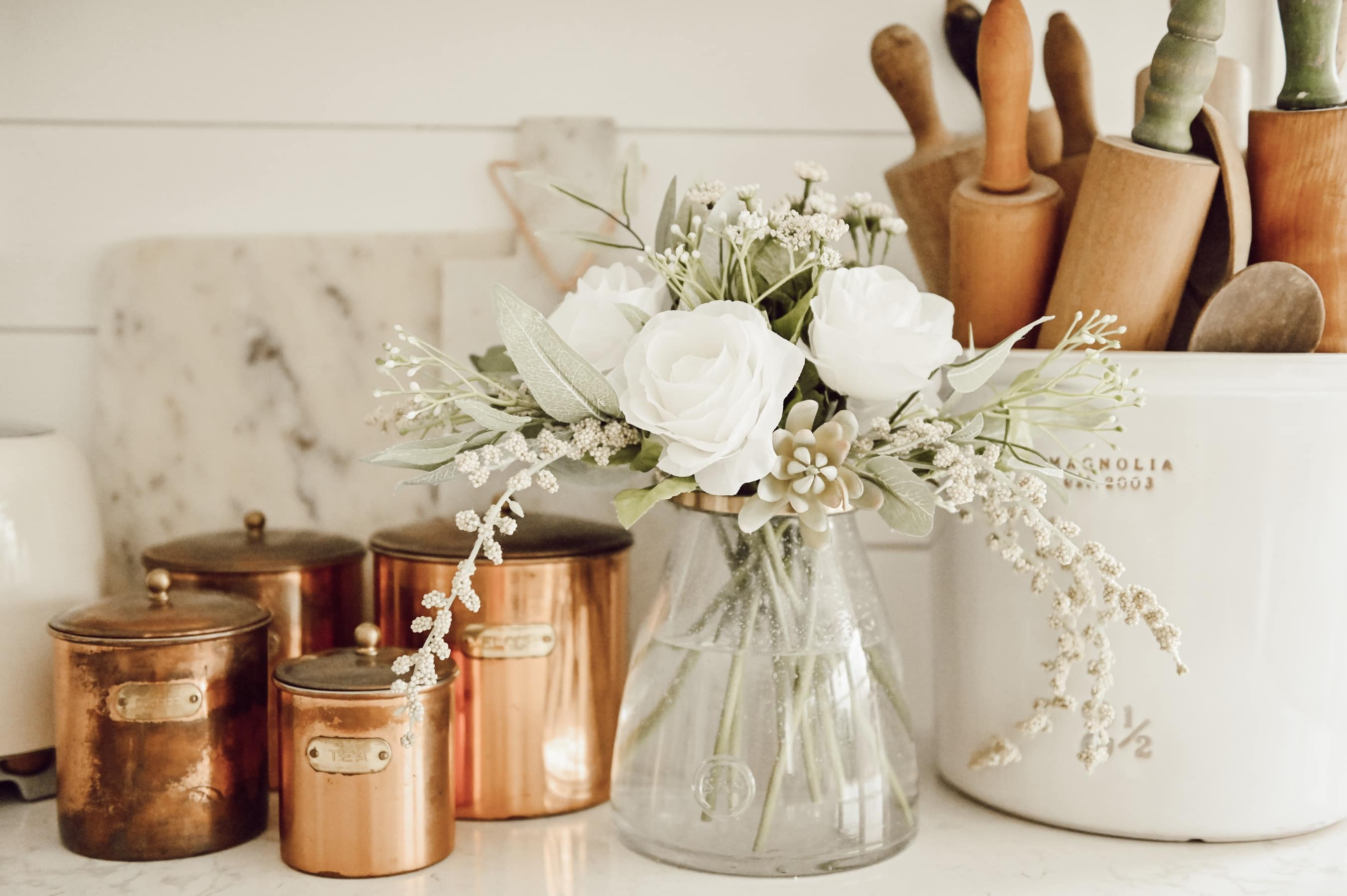 , The Easiest Trick For Fool Proof Faux Floral Arranging