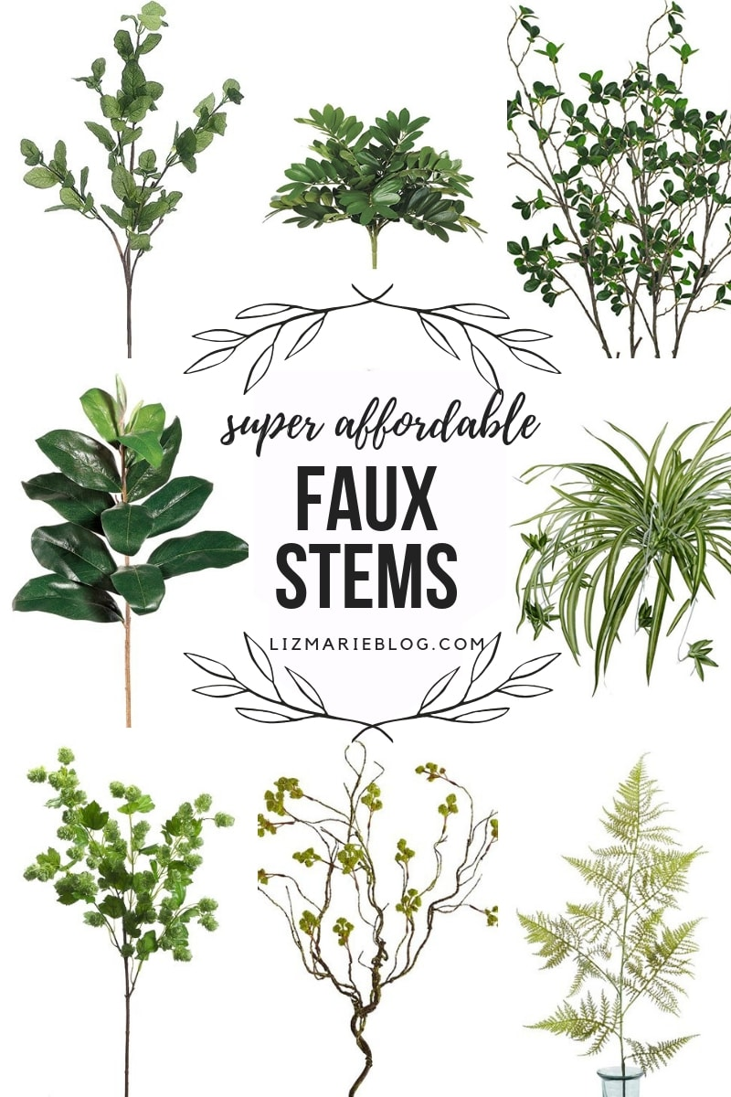 Super Affordable Faux Stems