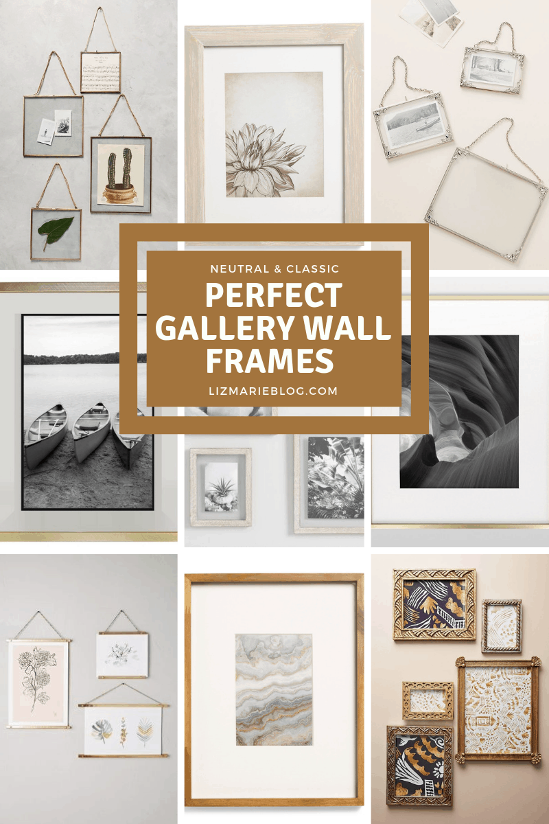 perfect frames, Perfect Frames to Create Your Gallery Wall