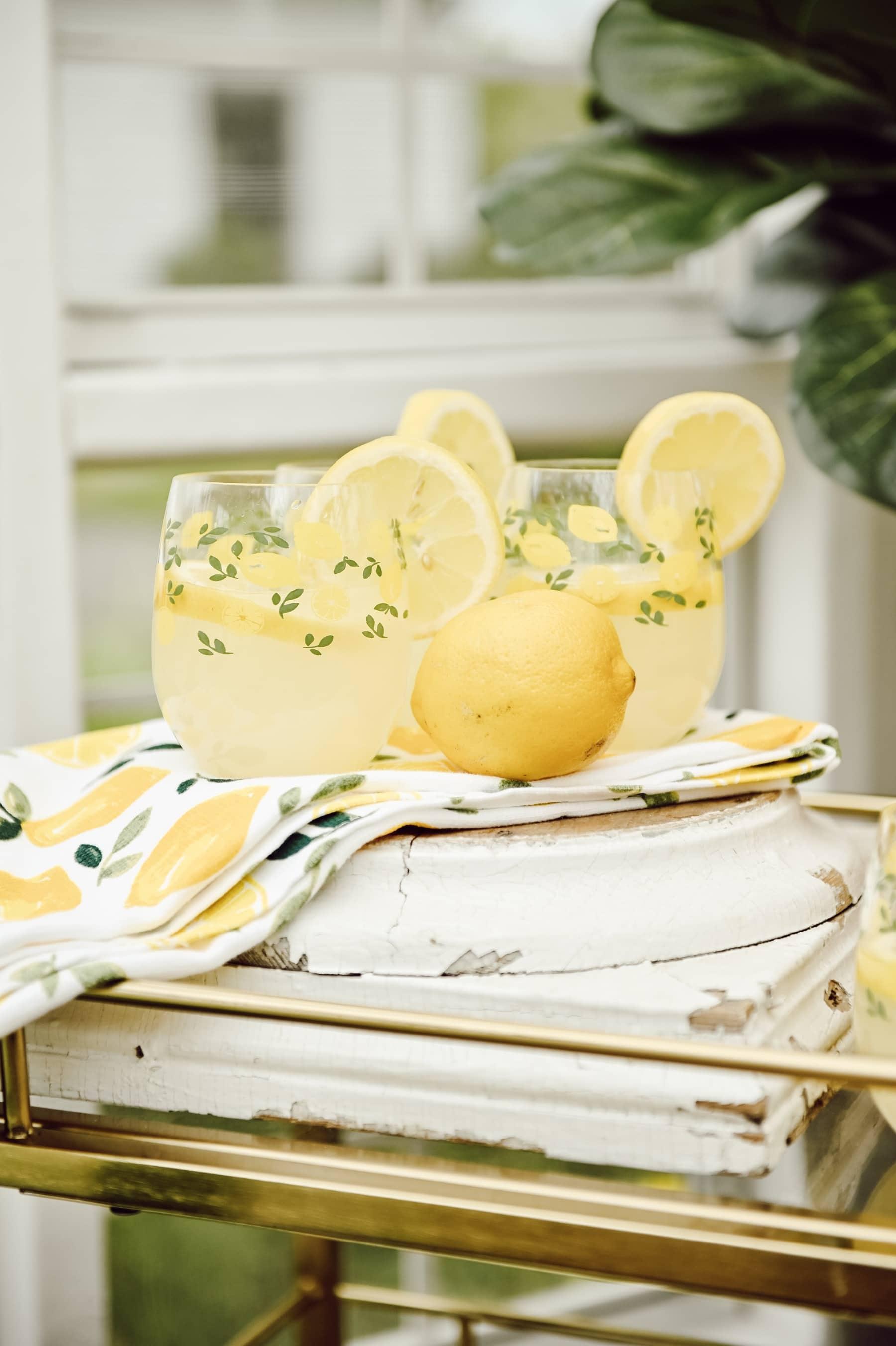 Lemon Drinks in greenhouse