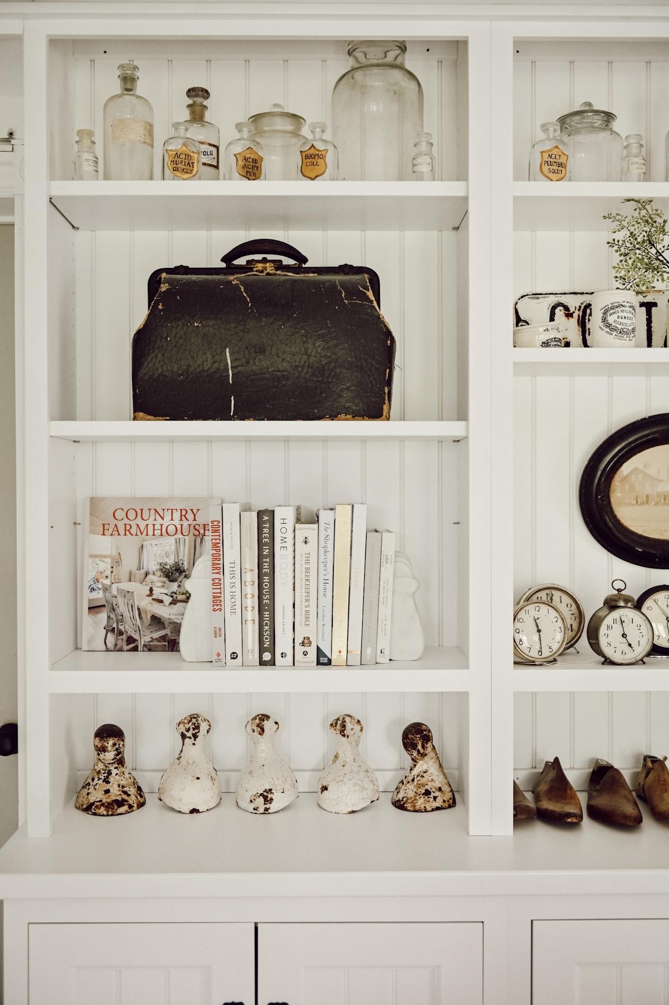Decor shelf with favorite design books