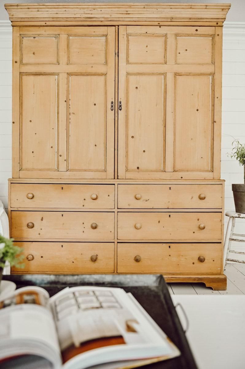 Flea market pine cabinet
