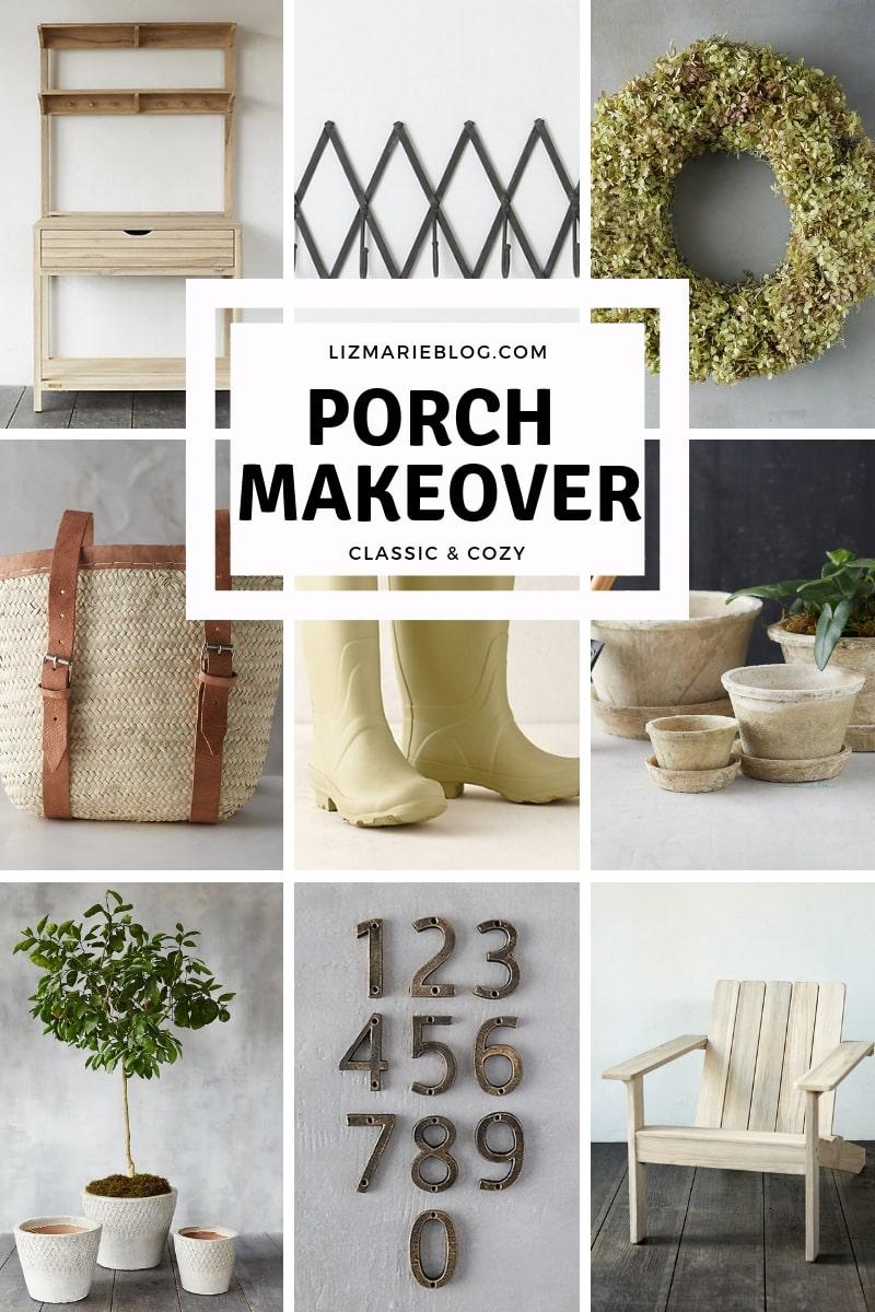 porch, Cozy Classic Porch Makeover