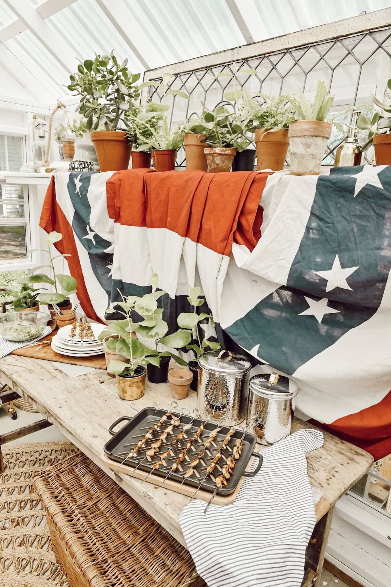 Patriotic Greenhouse Buffet