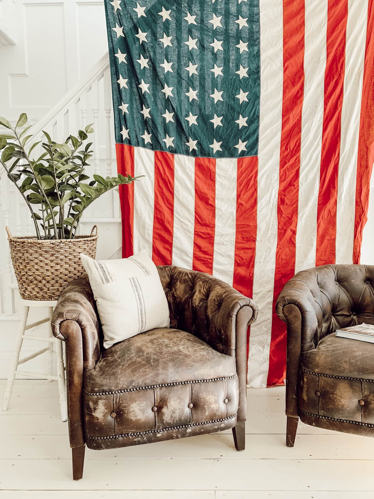 Antique American Flag Decor
