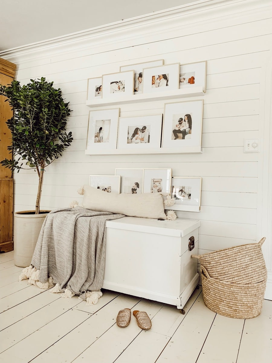 picture ledge, DIY Picture Ledge Gallery Wall