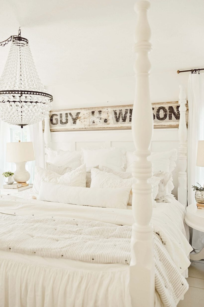 farmhouse bed, Revamp Antique Four Poster Bed