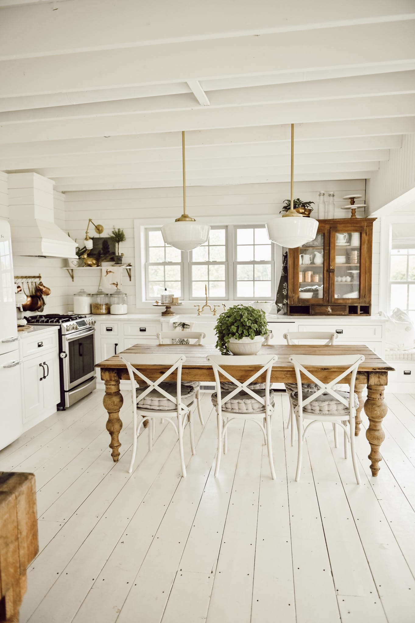 Sit in the heartbeat of your home by putting a dining table as your kitchen island