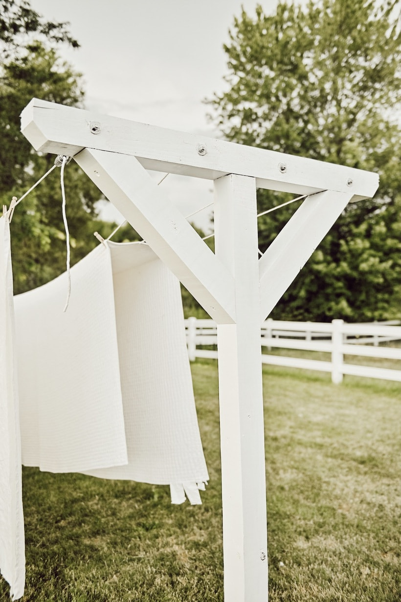 DIY Farmhouse Clothesline - Liz Marie Blog